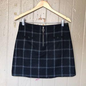 Madewell wool plaid skirt